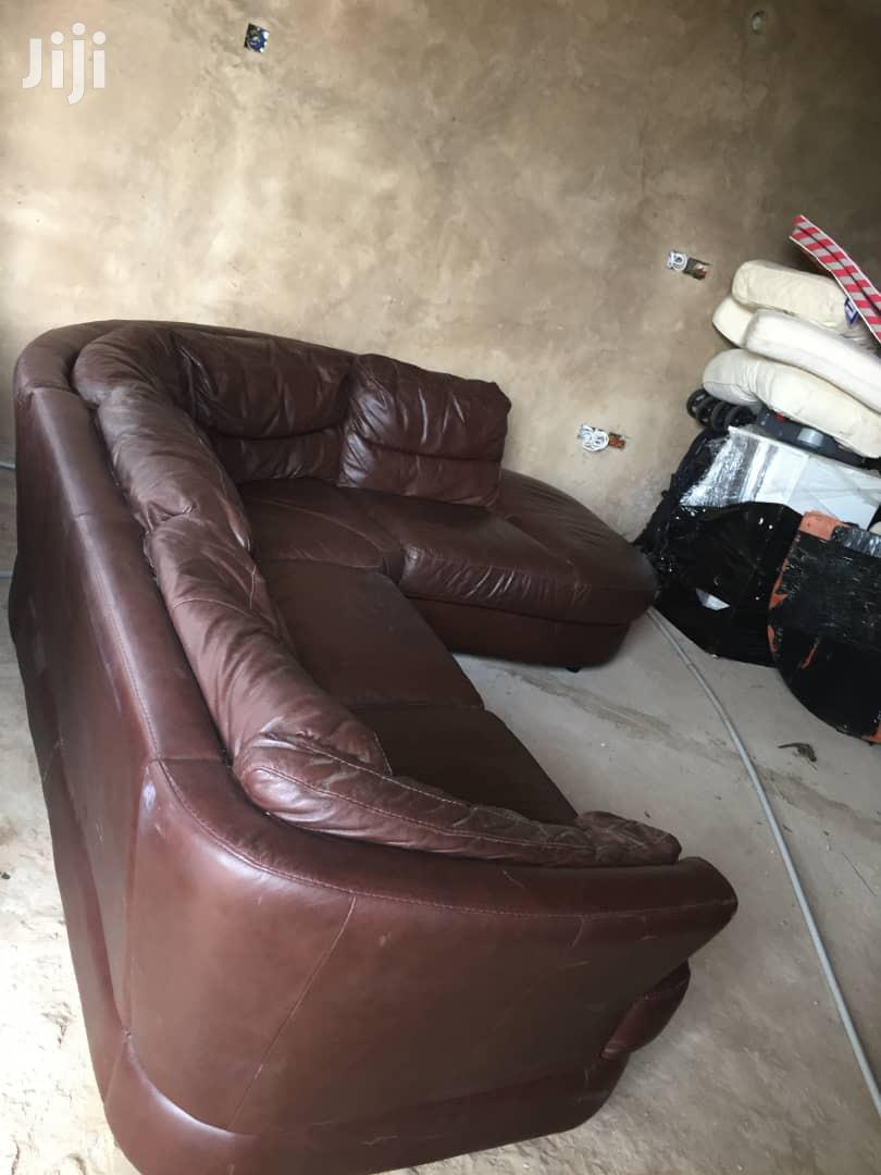 Conner Leather Sofa | Furniture for sale in Awutu Senya East Municipal, Central Region, Ghana