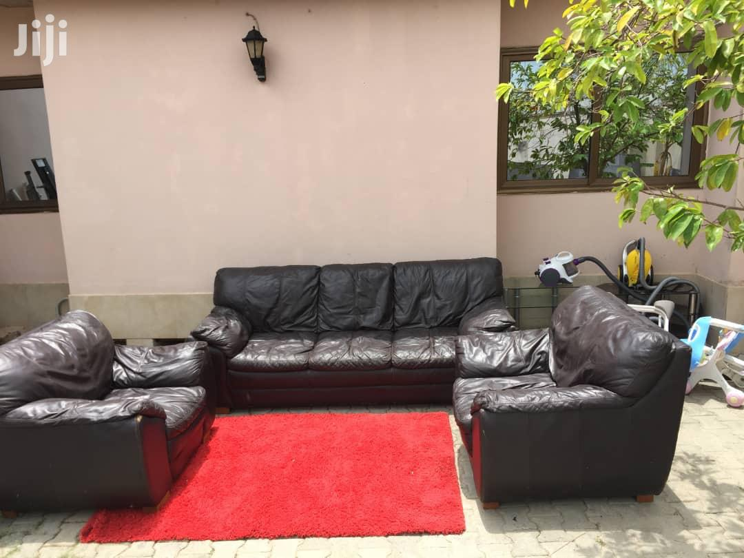 Full Set Black Sofas   Furniture for sale in Awutu Senya East Municipal, Central Region, Ghana