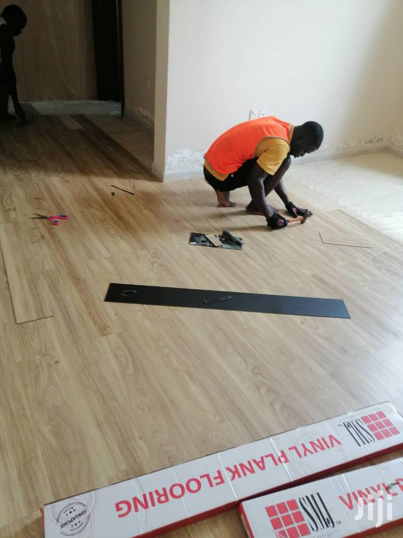 PVC Flooring Tiles Wooden Vinyl Prank Tiles   Building & Trades Services for sale in Accra Metropolitan, Greater Accra, Ghana