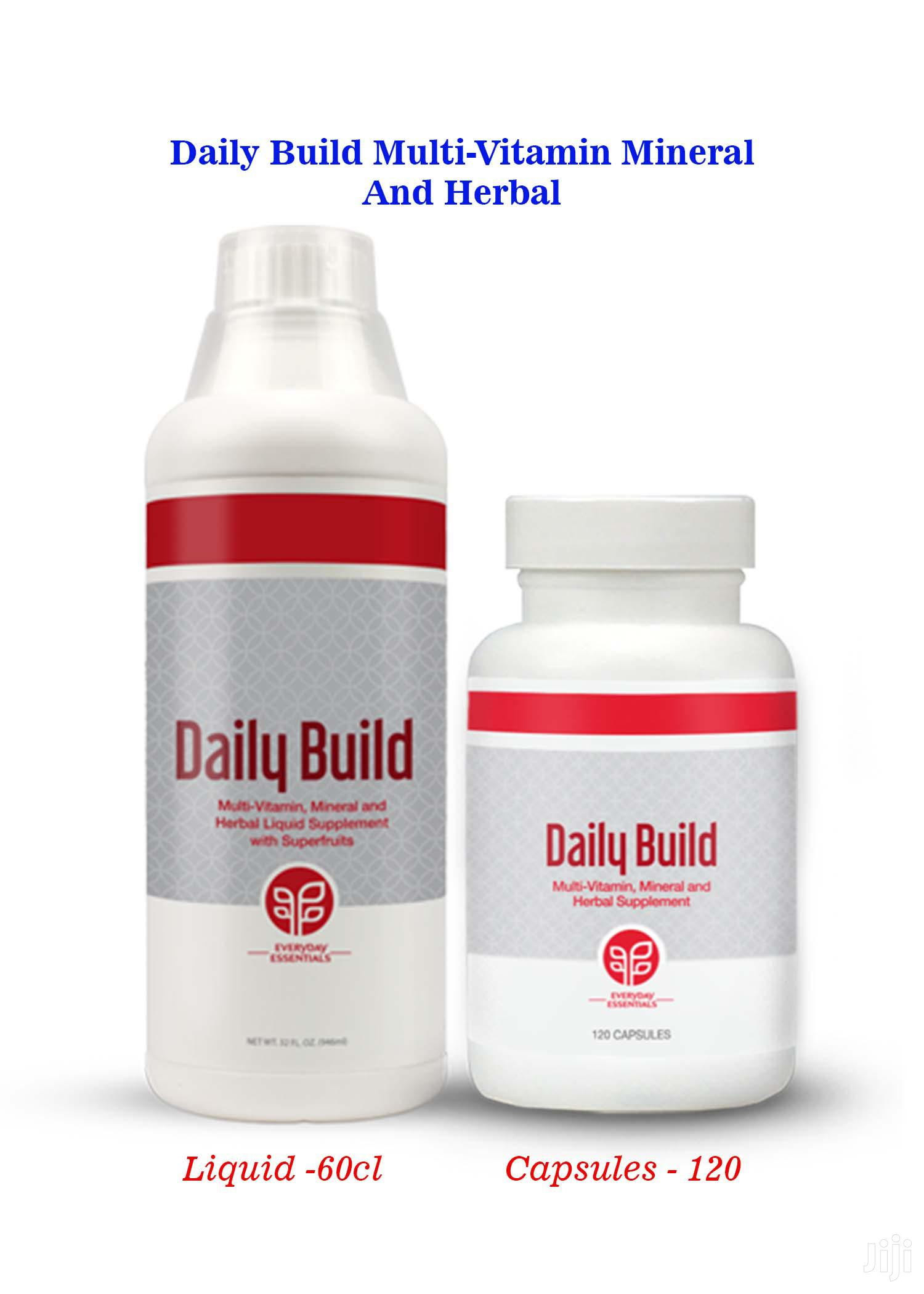Archive: Daily Build Multi Vitamins Herbal Capsules and Liquids