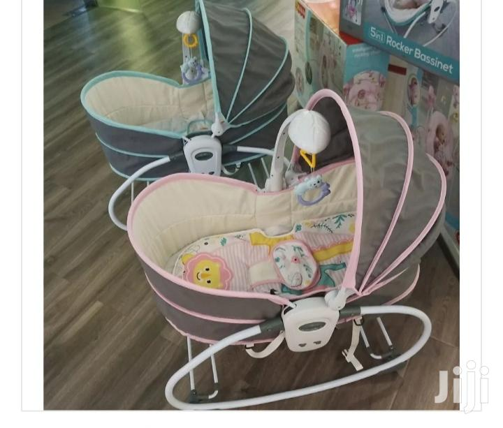 5 In 1 Baby Bassinet Bouncer With Mosquito Net