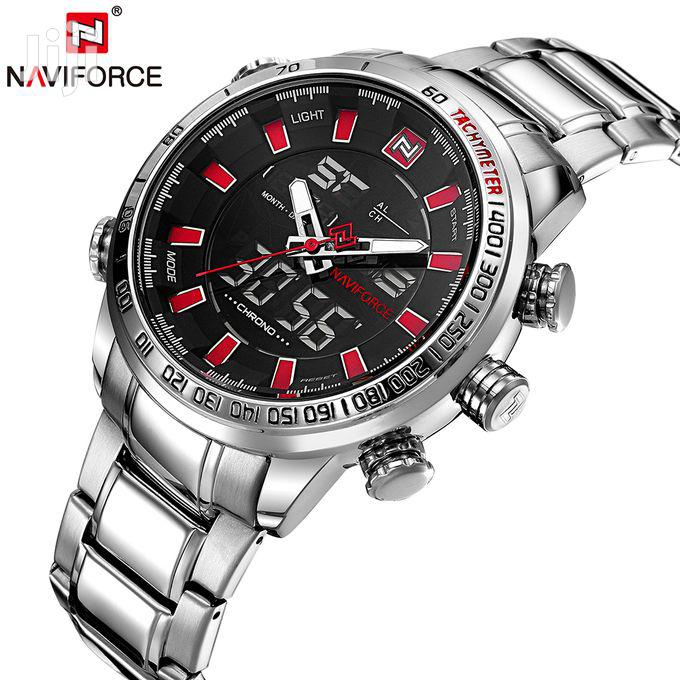 Naviforce Luxury Dual Display Digital Quartz Men Watch | Watches for sale in Achimota, Greater Accra, Ghana