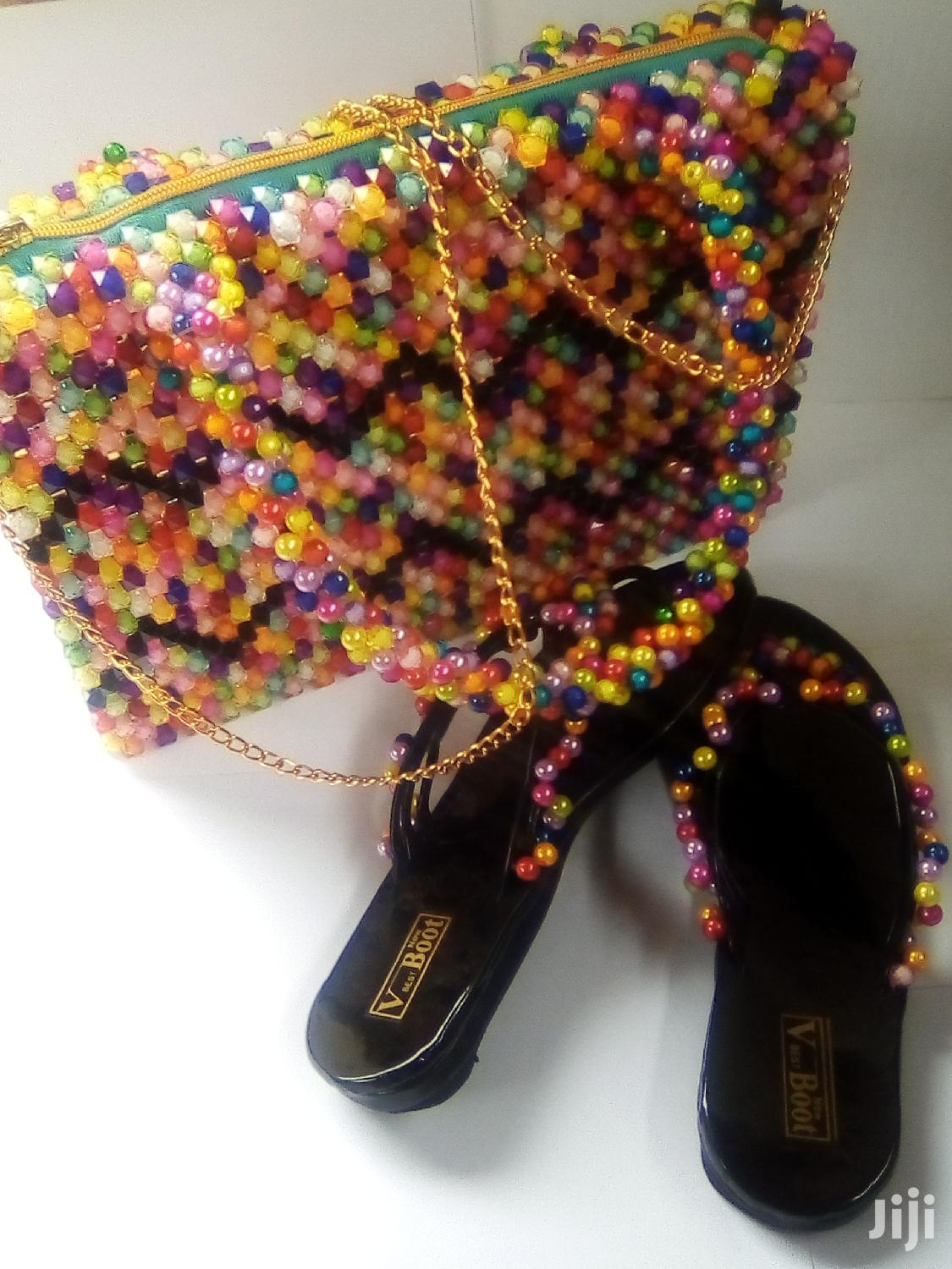 Beads Bag With Slippers