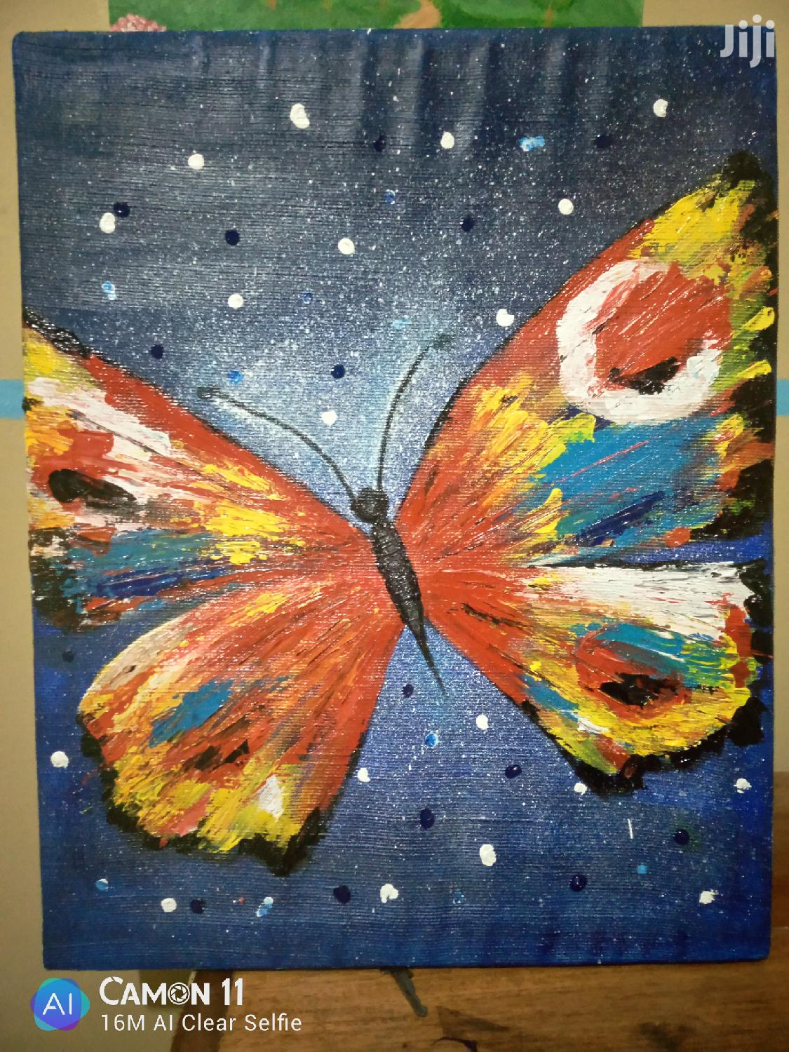 Archive: Butterfly Acrylic Painting on Canvas