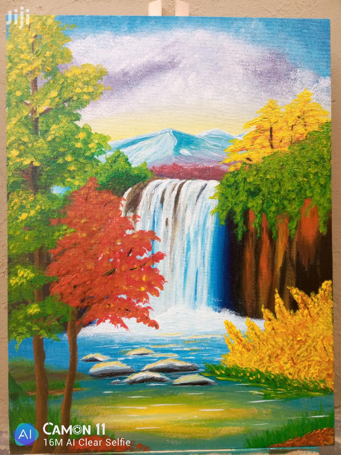 Nature Scene Acrylic Painting on Canvas