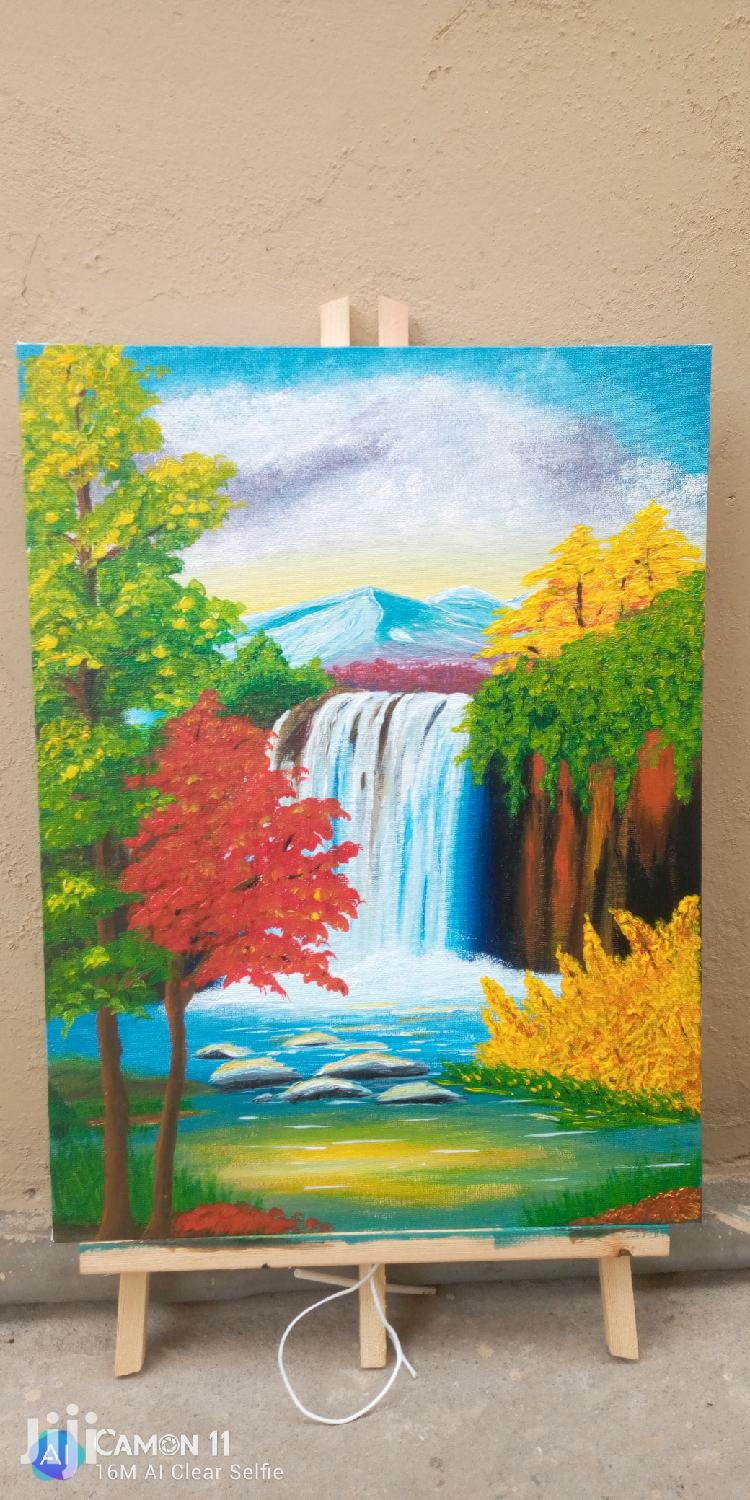 Nature Scene Acrylic Painting on Canvas | Arts & Crafts for sale in Kumasi Metropolitan, Ashanti, Ghana
