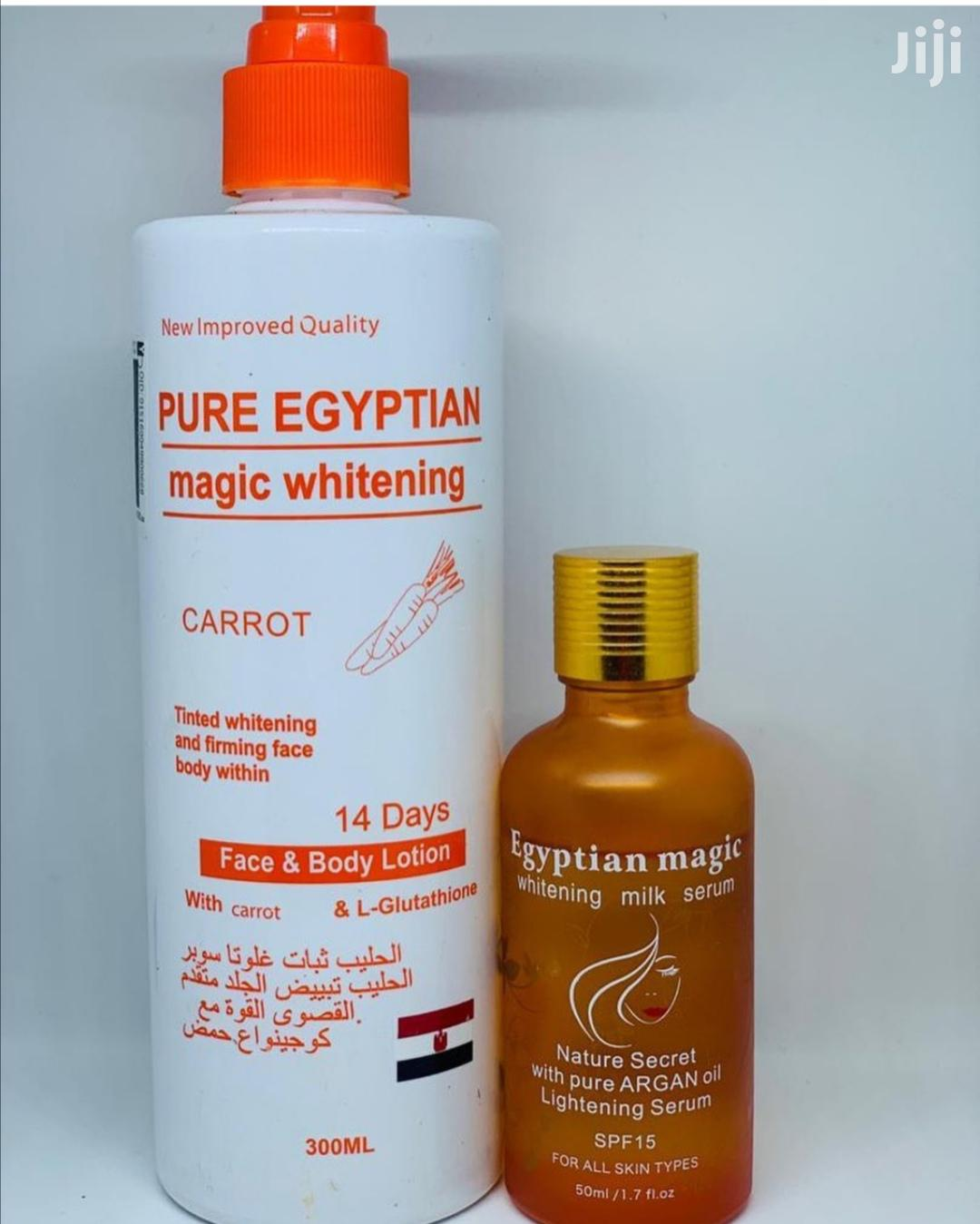 Pure Egyptian Magic Whitening Carrot Lotion and Serum