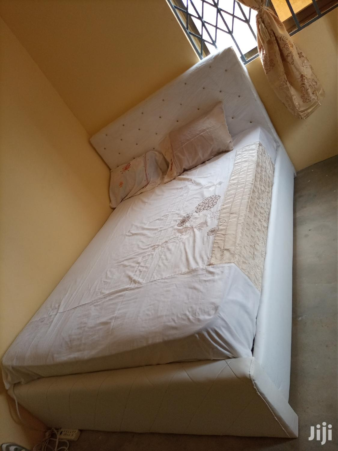 Pure White Double Beds With Mattress For Sell   Furniture for sale in Nima, Greater Accra, Ghana