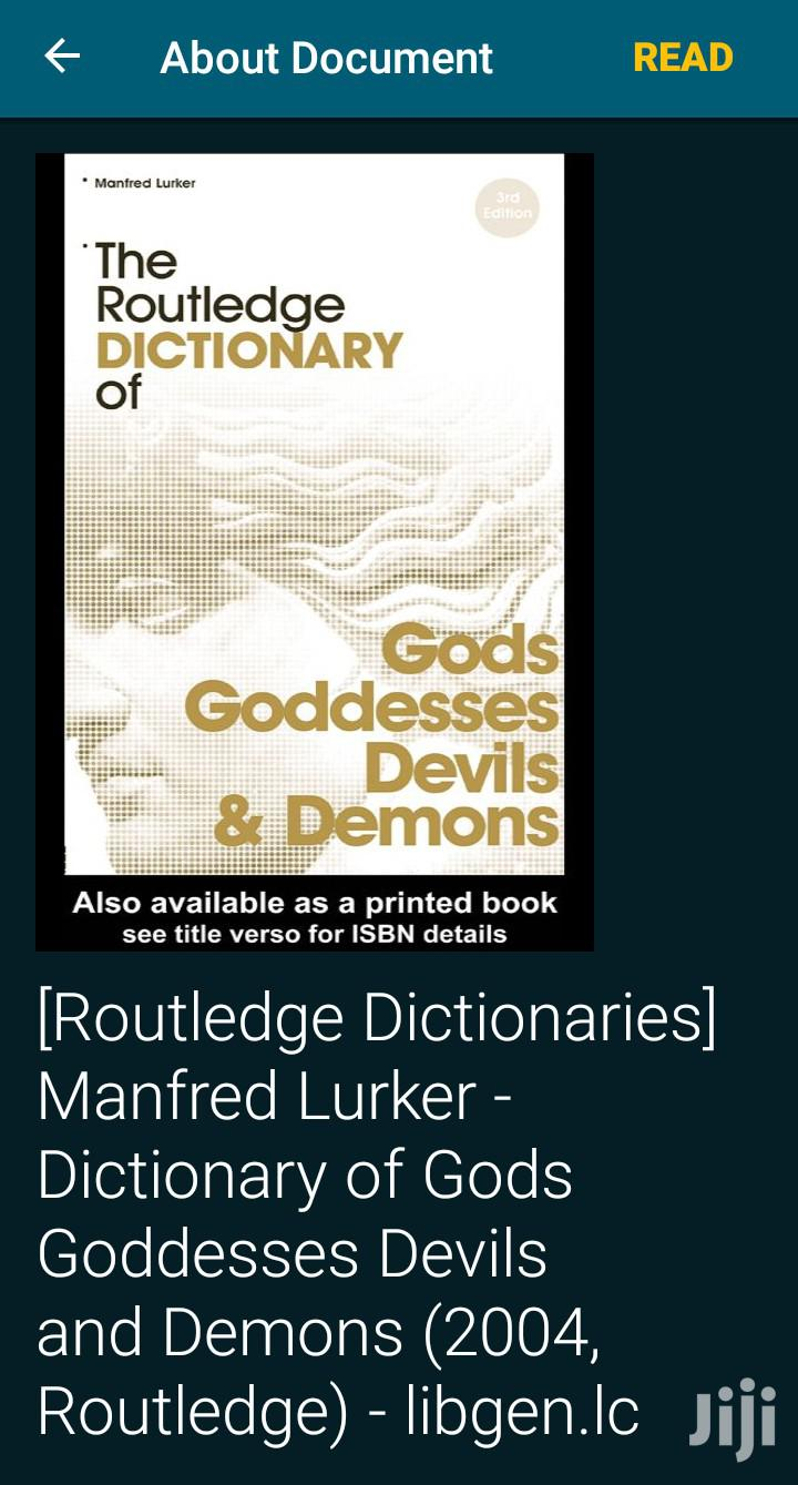 Dictionary of Gods, Goddesses,Devils and Demons