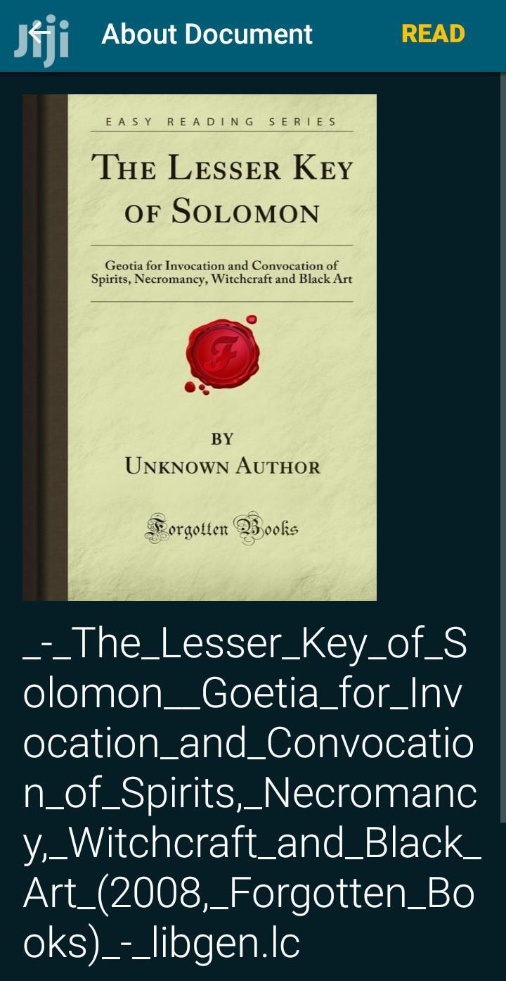 The Lesser Keys of Solomon