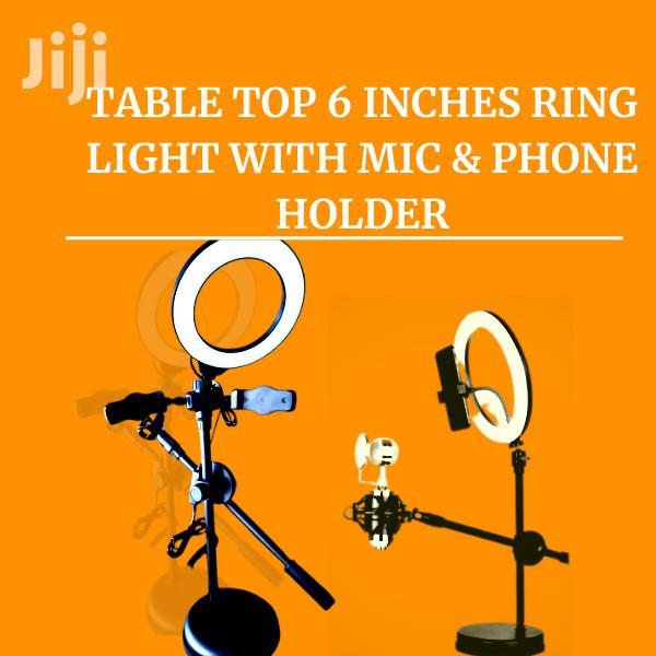 TABLE TOP 6 INCHES Ring Light WITH MIC & Phone Holder