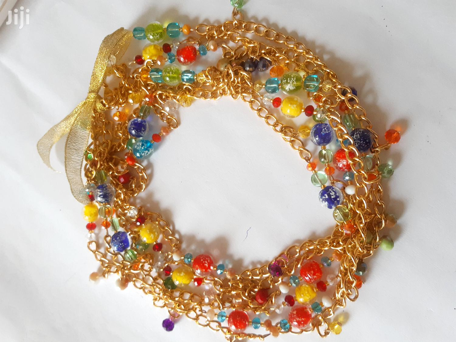 Archive: Glow Beads Mixed With Gold Chain Waistbeads