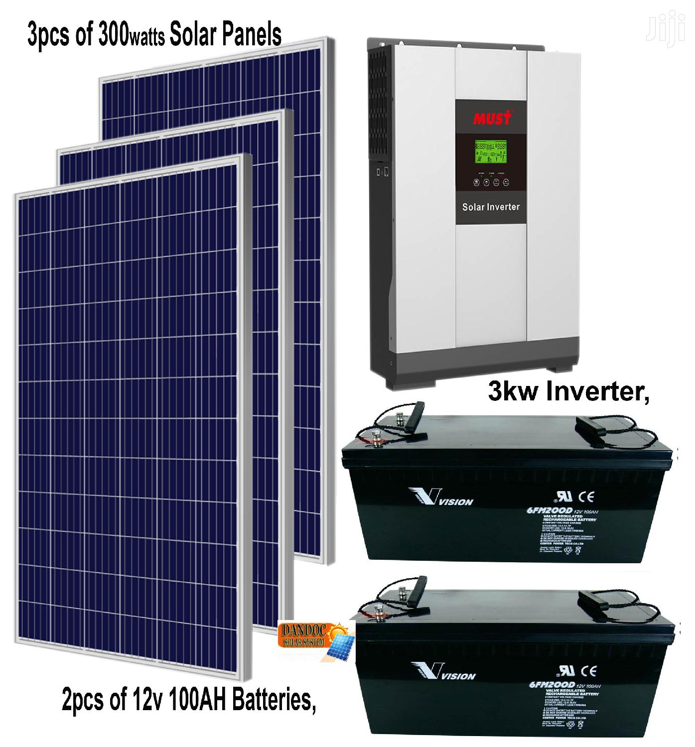 3kw Solar With 3 Solar Panels and 2 Batteries