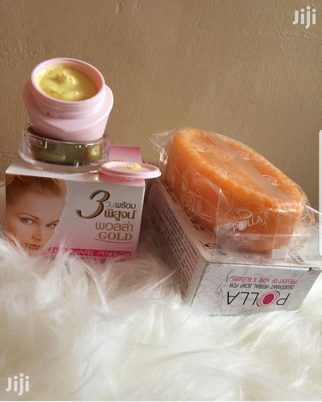 Polla Gold Anti Acne and Pimples Soap and Cream