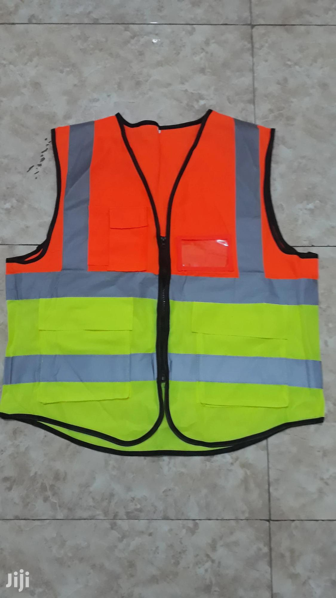 Double Colour Reflective Vest With Pockets | Clothing for sale in Tema Metropolitan, Greater Accra, Ghana