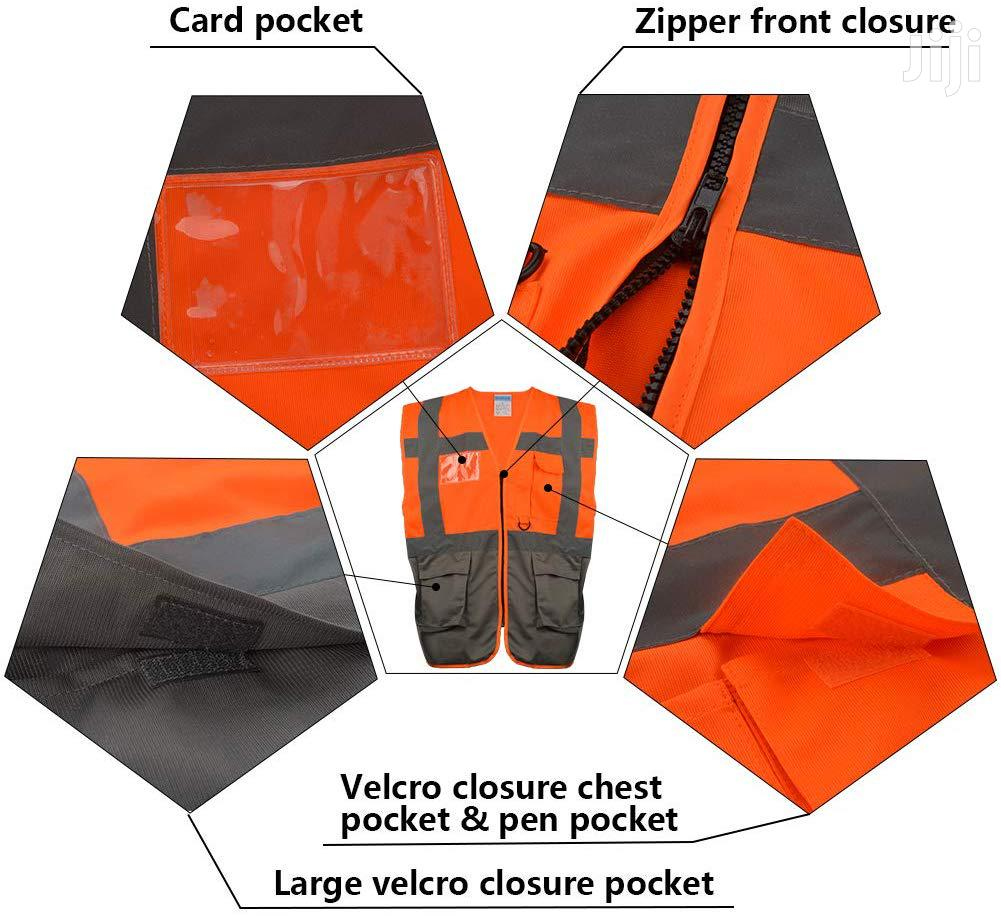 Reflective Vest/Orange-Grey | Clothing for sale in Tema Metropolitan, Greater Accra, Ghana
