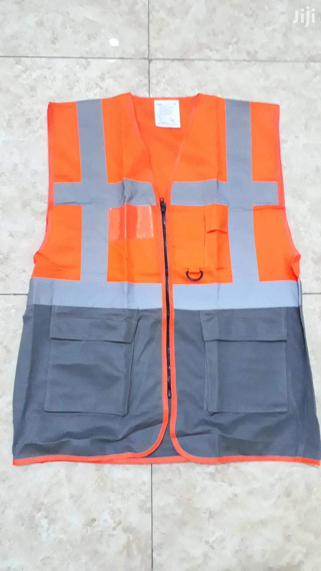 Reflective Vest/Orange-Grey