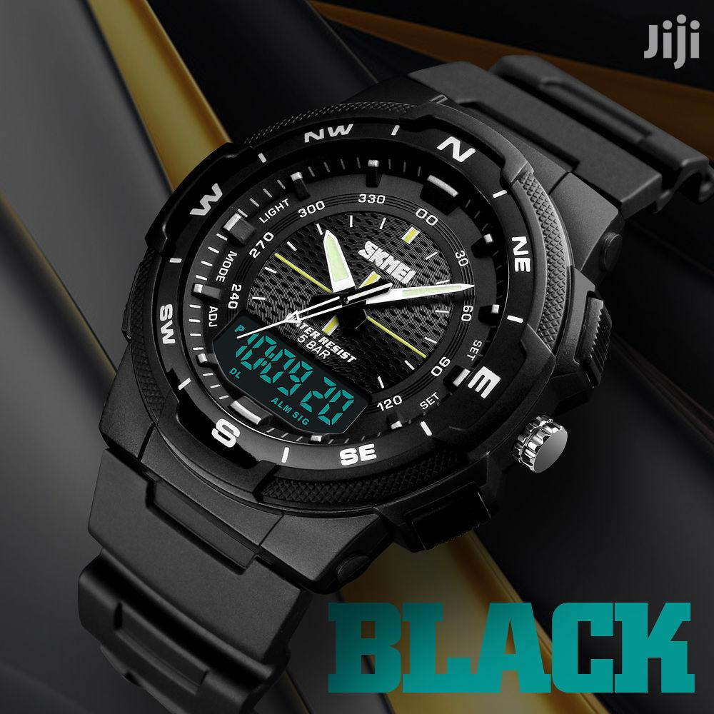 Skmei Men's Sports Dual Time Display Watch Led Digital 50M W
