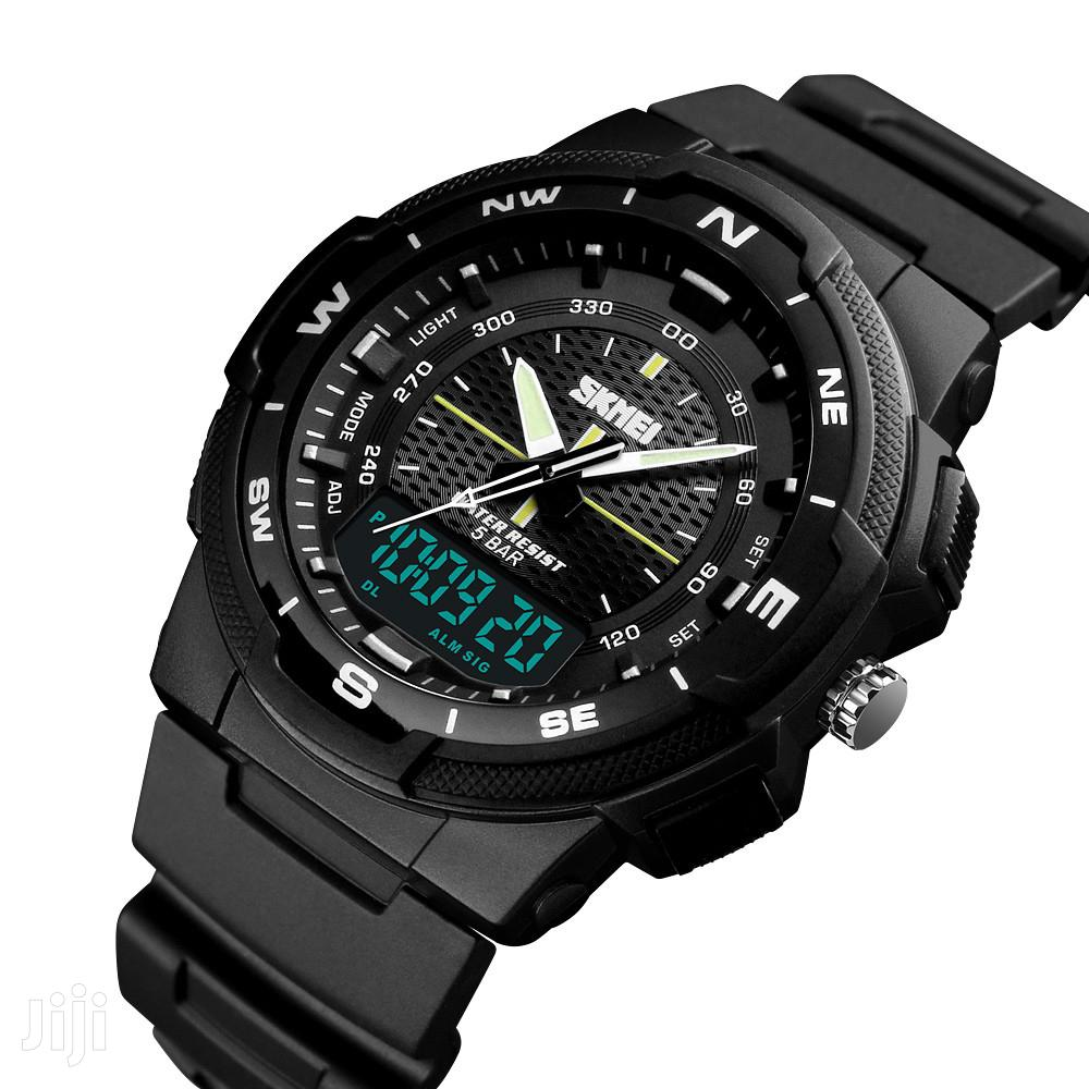 Skmei Men's Sports Dual Time Display Watch Led Digital 50M W | Watches for sale in Achimota, Greater Accra, Ghana