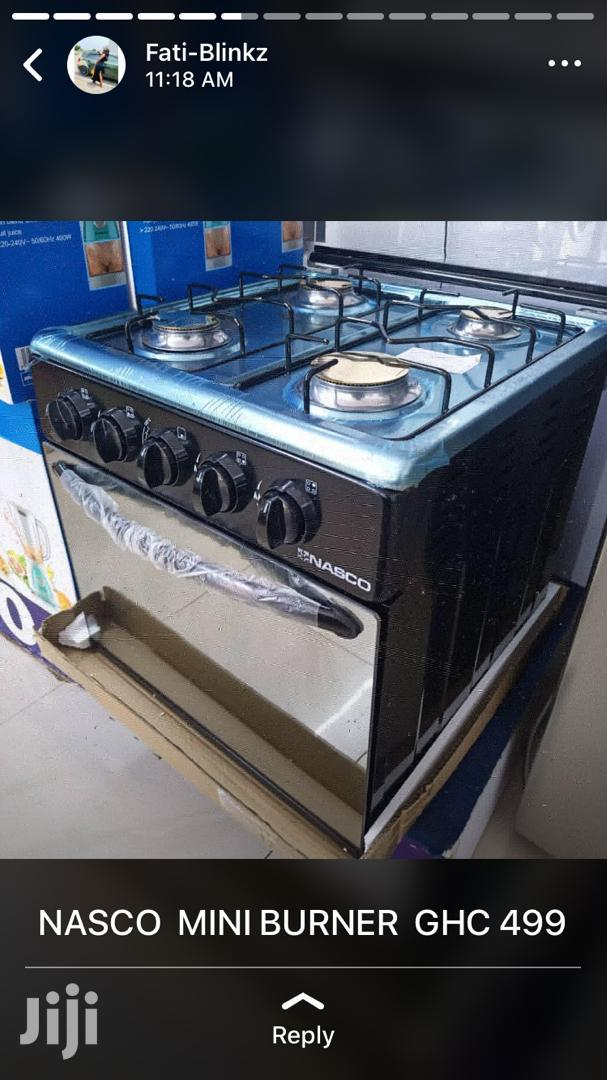 NASCO Mini Oven 4 Burners BLACK