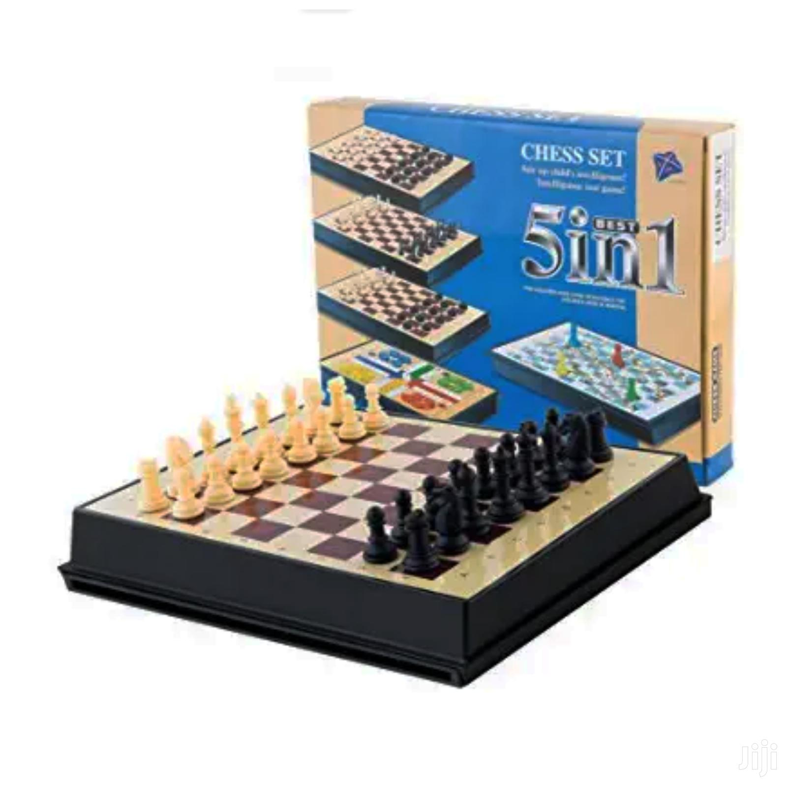 Chess, Drought, Ludu Magnetic Board Game_ 5 In 1