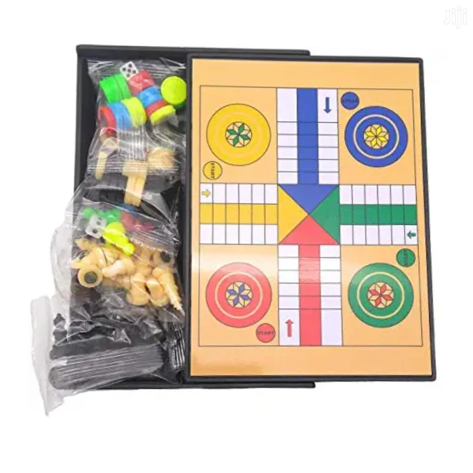 Chess, Drought, Ludu Magnetic Board Game_ 5 In 1   Books & Games for sale in Tema Metropolitan, Greater Accra, Ghana