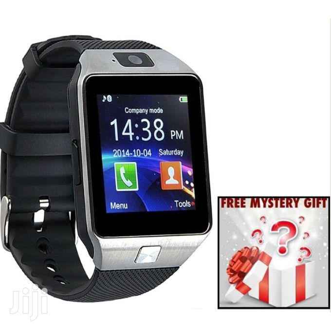 DZ09 Single SIM Smart Watch Phone – Black + FREE Mysterygift