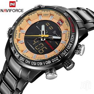 Black&Rosegold Men's Stainless Steel Naviforce Watch | Watches for sale in Greater Accra, Achimota