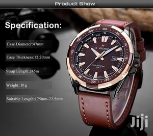 Analogue Naviforce Quartz Men's Leather Watch-brown | Watches for sale in Greater Accra, Achimota
