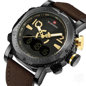 Naviforce Analog&Digital Mens Dual Leather Watch | Watches for sale in Greater Accra, Achimota