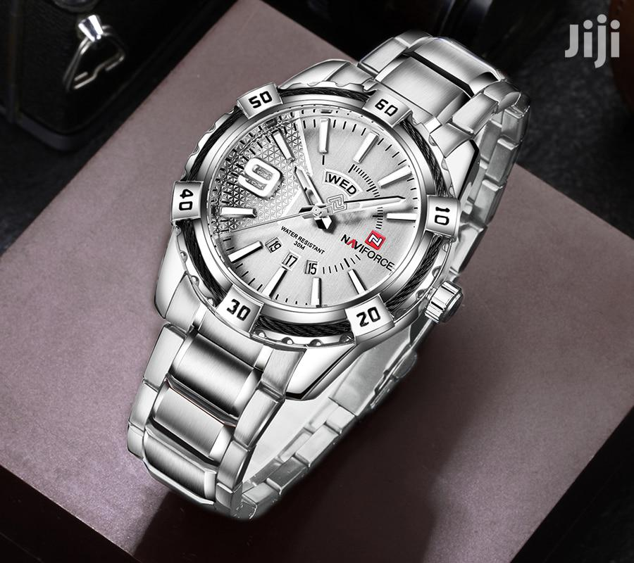 Stainless All Silver Naviforce Mens Wrist Watch | Watches for sale in Achimota, Greater Accra, Ghana