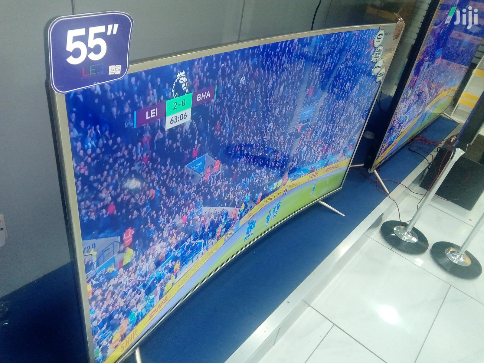 Newly Curved Nasco 55'' Smart 4K Digital Satellite LED TV