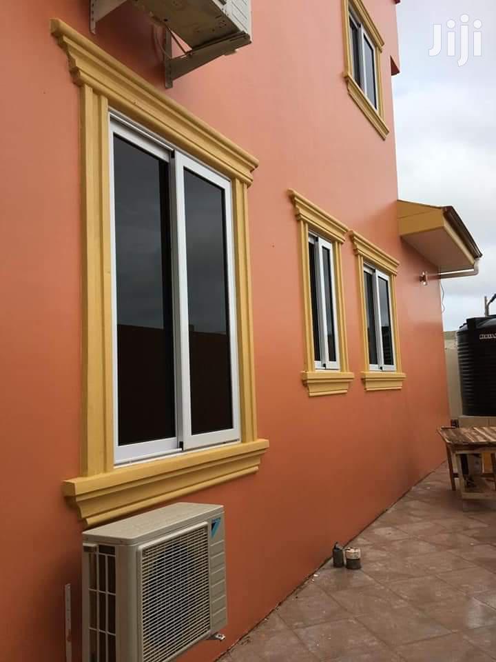 White Italian Window With Dark Glass
