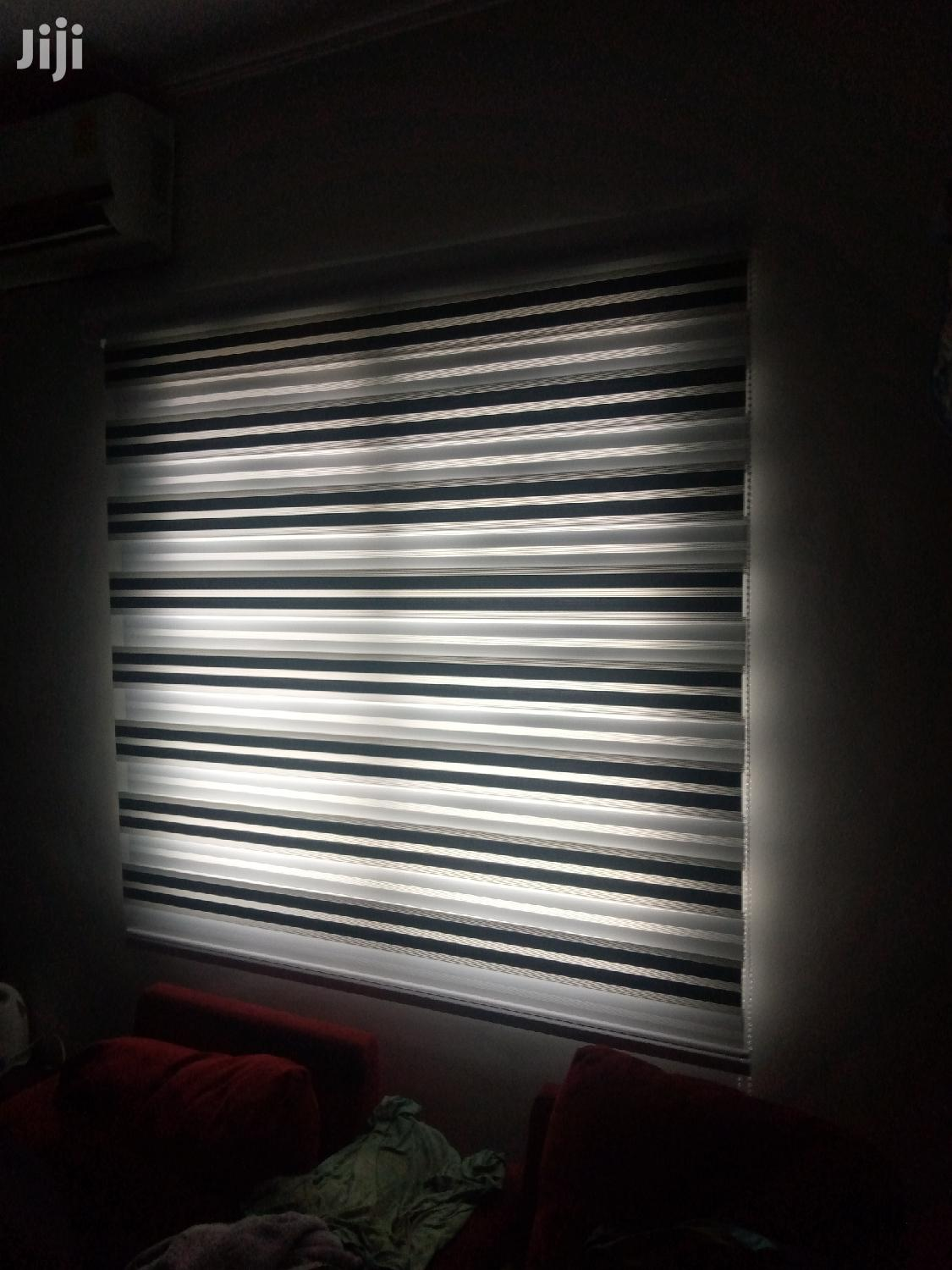 Black and White Zebra Curtains Blinds | Home Accessories for sale in Kotobabi, Greater Accra, Ghana