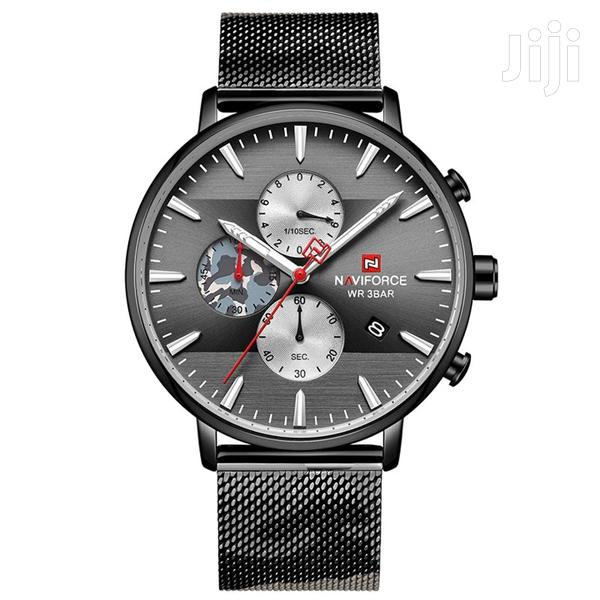 Fashion Stainless Steel Bracelet Naviforce Branded Men Watch | Watches for sale in Achimota, Greater Accra, Ghana