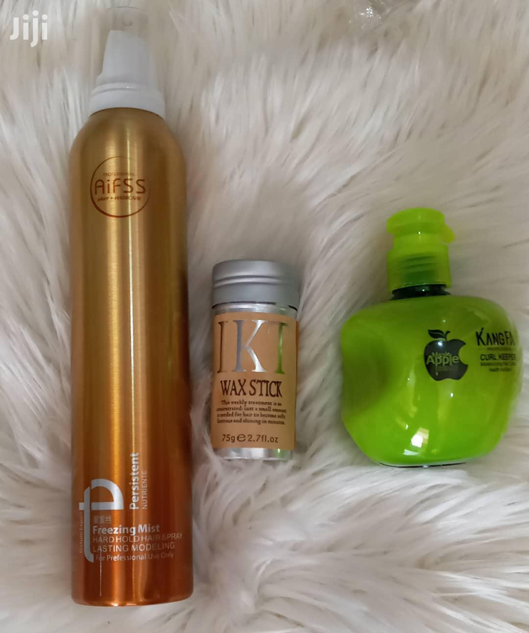 Hair Mouse, Curls Activator And Wax Stick