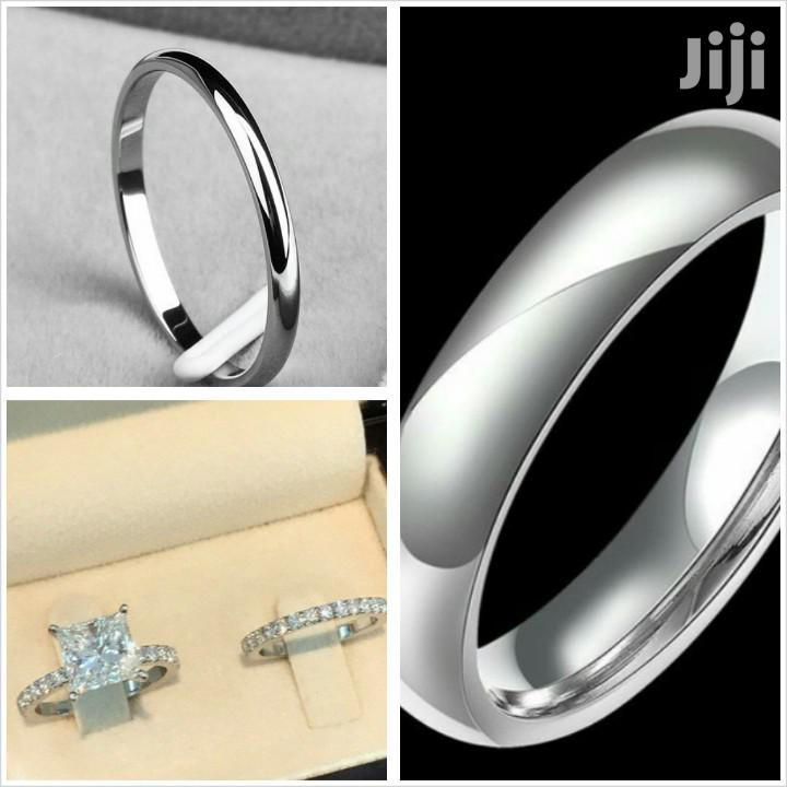 Quality 925 Silver Sterling Ring, Three Set for Couples