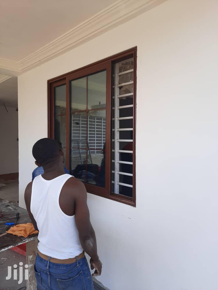 Wood Coating Aluminum Sliding Window