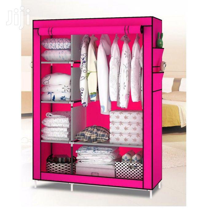 2-in-1 Portable Wardrobe – Pink