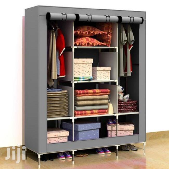 3in1 Portable Wardrobe – Grey