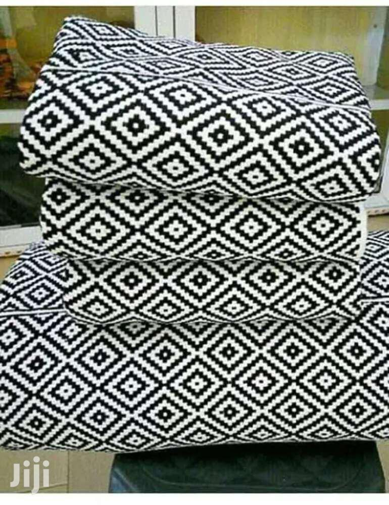 Black And White Kente Cloth New.