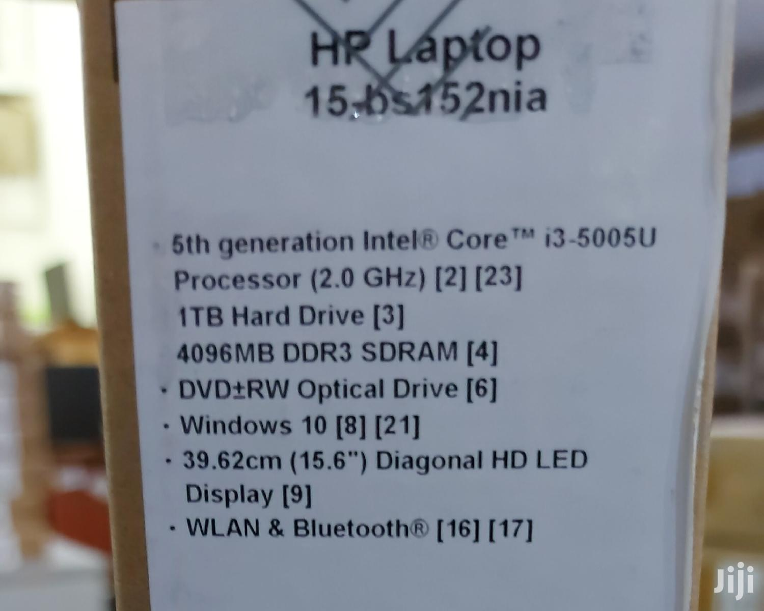 New Laptop HP 15-ra003nia 4GB Intel Core i3 HDD 1T | Laptops & Computers for sale in Abelemkpe, Greater Accra, Ghana