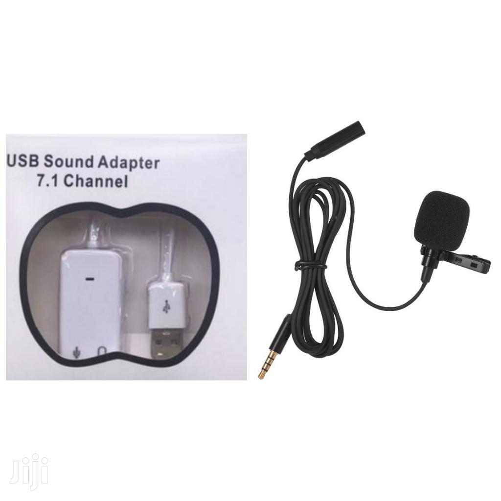 Microphone And USB Sound Adapter