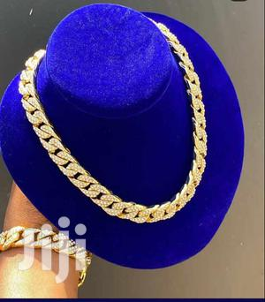 Cuban Iced Necklace With Bracelet | Jewelry for sale in Greater Accra, Achimota