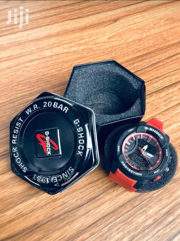 Black Case With Red Strap G - Shock Watch