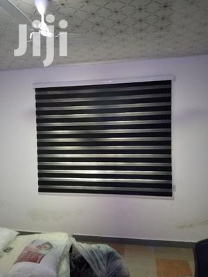 Classy Black Zebra Curtains Blinds | Home Accessories for sale in Labadi, La Wireless