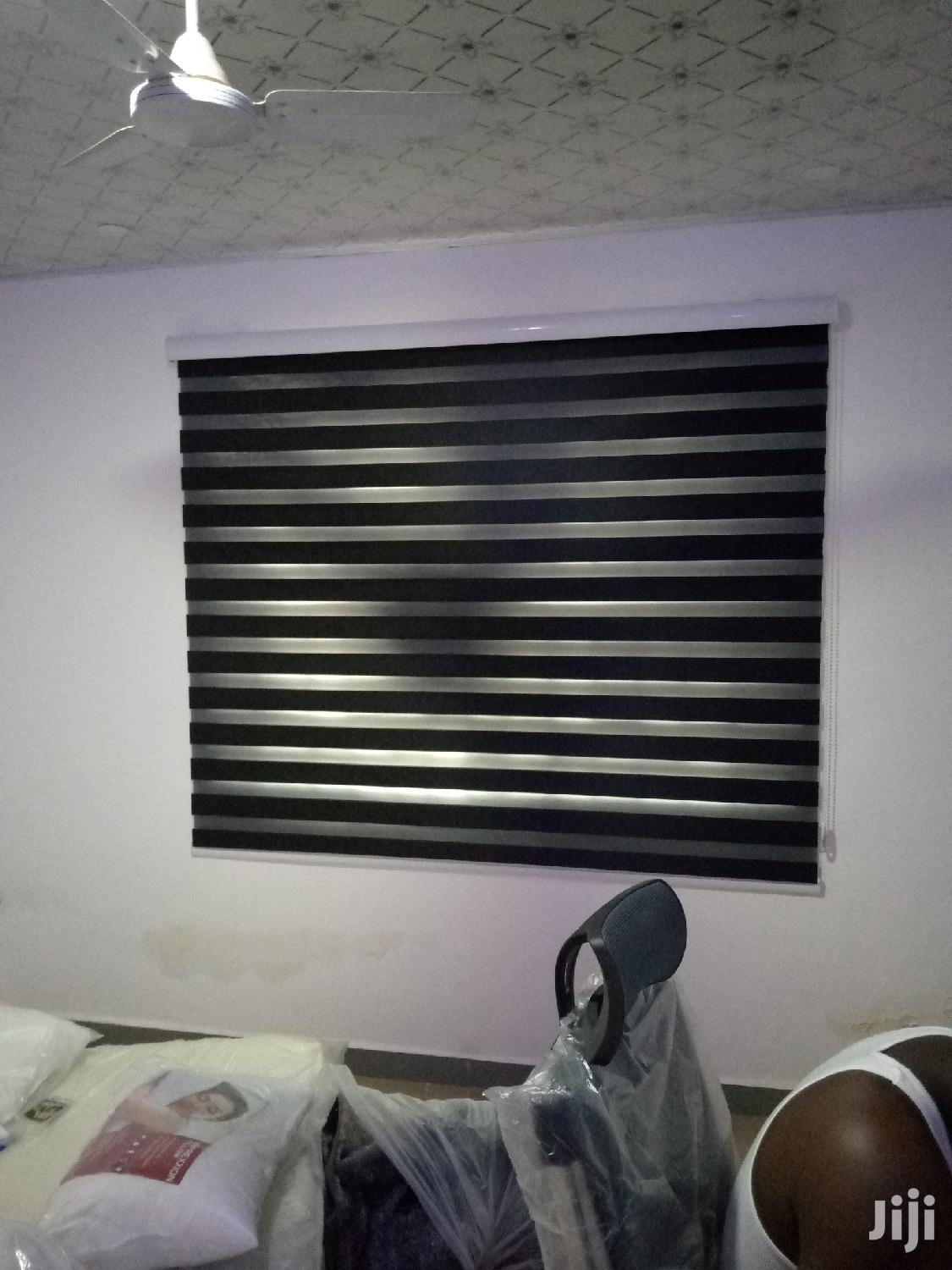 Classy Black Zebra Curtains Blinds   Home Accessories for sale in Labadi-Aborm, Greater Accra, Ghana