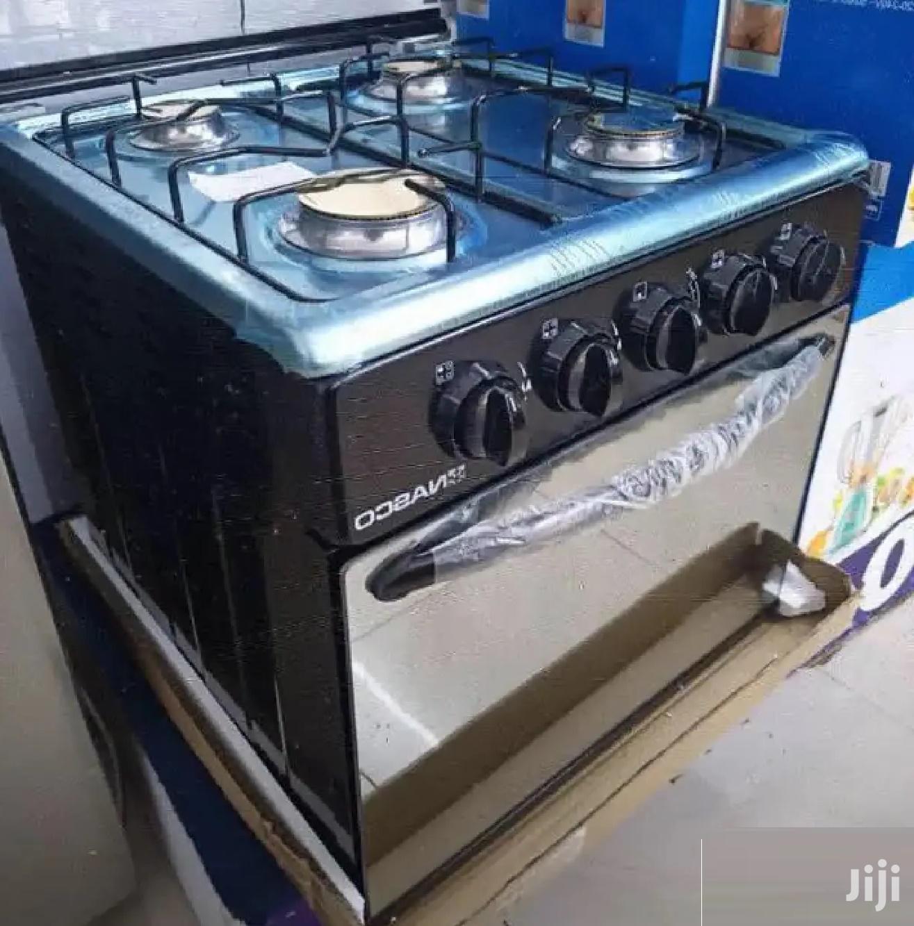 NASCO Mini Oven 4 Burners BLACK