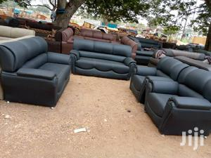 Black Leather Sofa Chair | Furniture for sale in Greater Accra, Tema Metropolitan