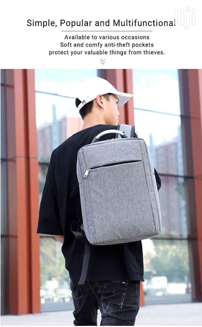 Unisex Waterproof Laptop Backpack With Handle Shoulder Strap